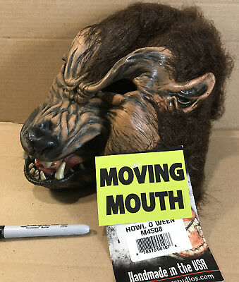Zagone Studios Howl O Ween Werewolf Adult Latex Halloween Mask with Moving Mouth