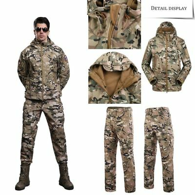 Men Outdoors Military TAD Shark Skin Jacket Soft Shell Tactical Waterproof