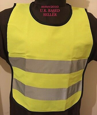 Kids Boys Girls TOP Yellow High Viz Hi Vis Visibility Vest Waistcoat Safety New