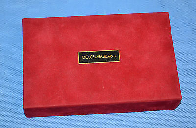 Dolce & Gabbana Red Velvet Box Eau De Toillete Perfume/box Only Made In Italy