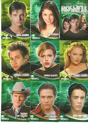 Roswell Season 1 Mint 90 Card Complete Set with Case Box by Inkworks 2000
