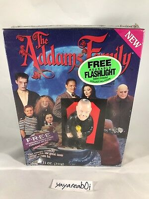 Vintage 1991 The Addams Family Cereal with Uncle Fester Flashlight (Sealed)