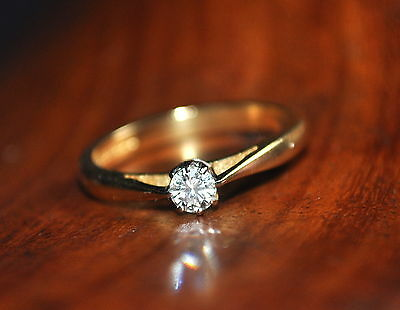 0.20ct Diamond Engagement ring Val $3035.00 Size M 3/4 US 6 1/4 3.56 grams