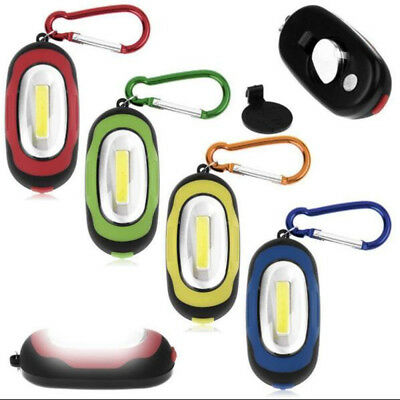 Ultra Bright Mini COB LED Camping Flashlight Torch Keyring Portable Key Chain