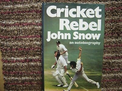 John Snow Cricket Rebel An Autobiography Signed