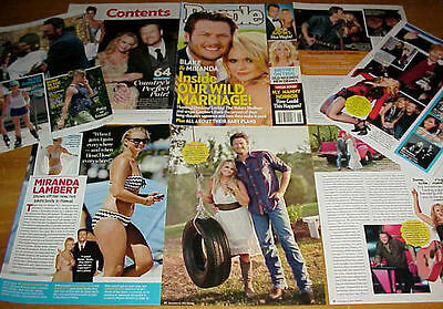 Miranda Lambert & Blake Shelton Clippings 6 Lots #081917