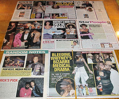 Whitney Houston Vintage Clippings 11 Lots #031117