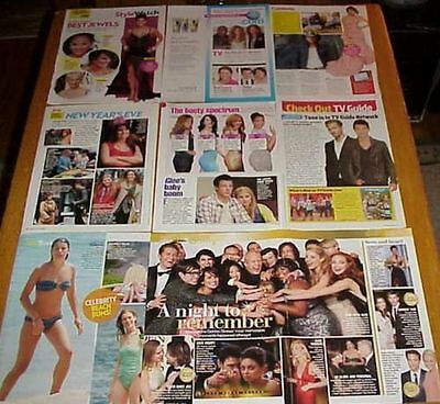 Lea Michele Cory Monteith Clippings 12 Lots Glee Stars #082817