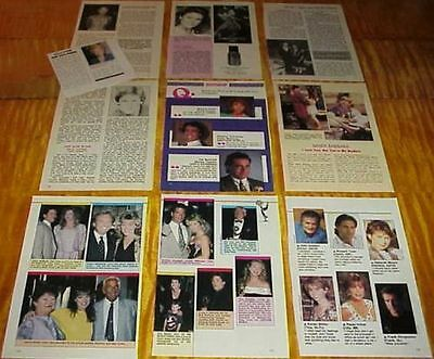 Santa Barbara Soap Opera Cast Clippings 6 Lots Marcy Walker A Martinez #082817