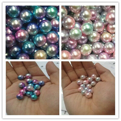 NEW DIY 3-12mm Colour Acrylic Round Pearl Spacer Loose Beads Jewelry Making