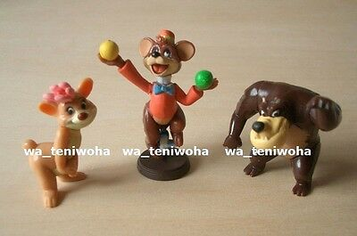 New Set! -Fun and Fancy Free Bongo- So Tiny! 3 Figures Disney Choco Egg Bear