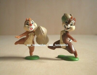 New Set! -Chip and Dale- So Tiny! 2 Figures Disney Choco Egg Chipmunk