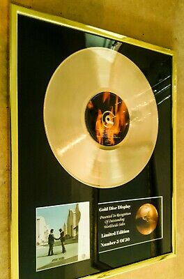Pink Floyd Wish You Were Here Cd Gold Disc Lp Record Vinyl Free P+P!