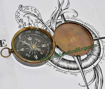 Antique Brass Navigation Marine Camping Compass Vintage Nautical Compass Gift 3""