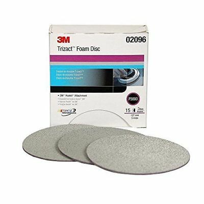 3M 02096 Trizact Hookit 5 Inch P3000 Grit Foam Disc, Box of 15
