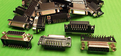 Dee Socket Right Angle 15 Way Female D PCB Tin Shell x 10pcs ONO our DPRS2-15F
