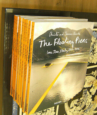 """Christo and Jeanne-Claude- Das neue Buch """"The Floating Piers"""" Handsigniert"""