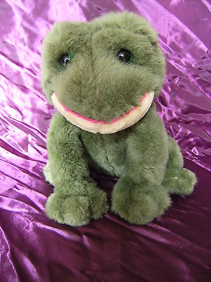 Russ Berrie ''Fribbit Frog'' soft toy teddy