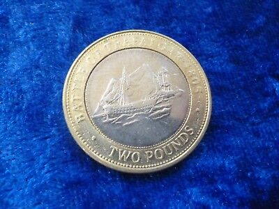 Gibraltar £2 Two Pounds Battle of Trafalgar 2006 circulated