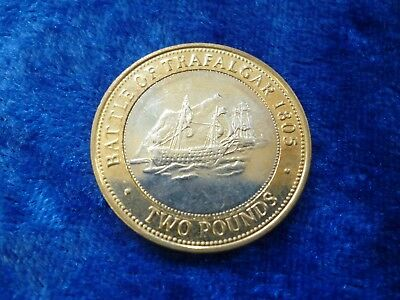 Gibraltar £2 Two Pounds Battle of Trafalgar 2005 circulated