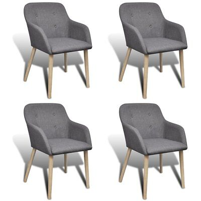 Upholstery Grey Dining Chairs Oak Wood Armchair Kitchen Cafe Furniture