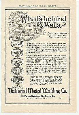 Vintage, Original, 1926 -  Metal Molding Ad - Sheraduct Conduit, Flexsteel
