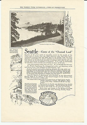 Vintage, Original 1922 - Seattle Chamber of Commerce Advertisement