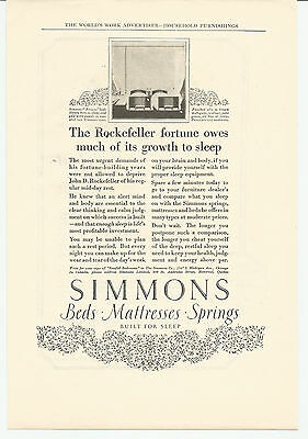 Vintage, Original, 1923 -  Simmons Beds, Mattresses, Springs Advertisement