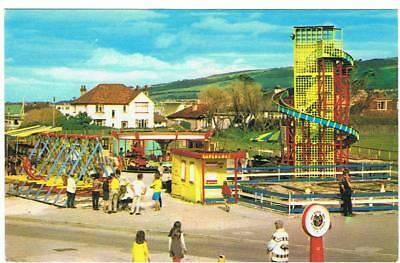 Unused Colourmaster P/C Happy Valley, Y-Ffrith, Prestatyn, Fairground