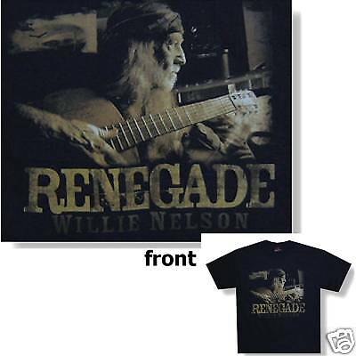 Willie Nelson! Renegade Guitar Pic Black T-Shirt M New