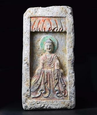 Fine Chinese Northern Wei Buddhist temple tile 5th century AD.