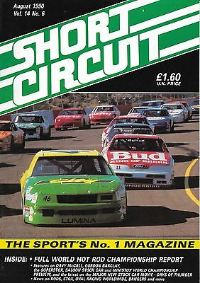 Short Circuit Magazine. Stock Cars. Hot Rods. Bangers. August 1990