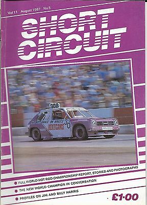 Short Circuit Magazine. Stock Cars. Hot Rods. Bangers. August 1987
