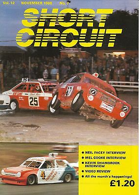 Short Circuit Magazine. Stock Cars. Hot Rods. Bangers. November 1988