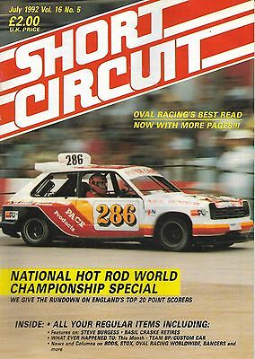 Short Circuit Magazine. Stock Cars. Hot Rods. Bangers. July 1992