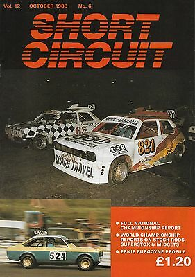 Short Circuit Magazine. Stock Cars. Hot Rods. Bangers. October 1988