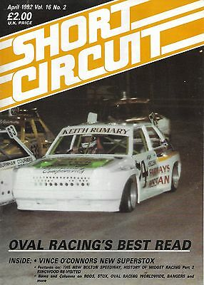 Short Circuit Magazine. Stock Cars. Hot Rods. Bangers. April 1992