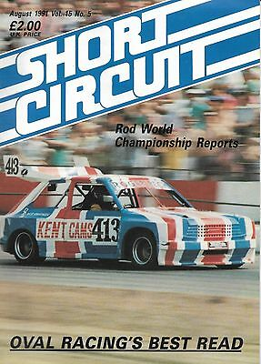 Short Circuit Magazine. Stock Cars. Hot Rods. Bangers. August 1991
