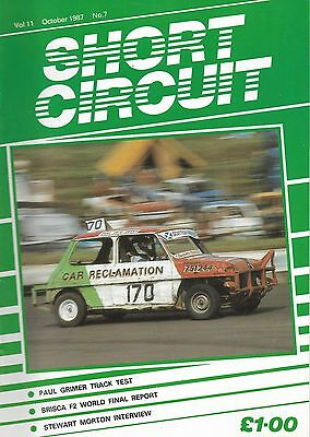 Short Circuit Magazine. Stock Cars. Hot Rods. Bangers. October 1987