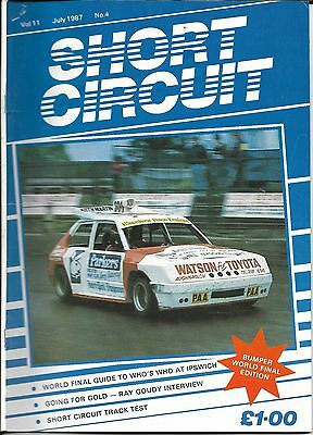 Short Circuit Magazine. Stock Cars. Hot Rods. Bangers. July 1987
