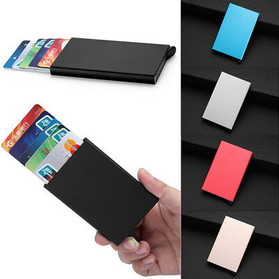 Metal Travel Card Wallet Automatic Pop up Click Slide Card Holder Name Card Bag