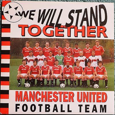 "Manchester United 1990 song 'We Will Stand Together' 7"" vinyl record."