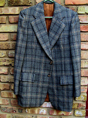 Vintage 1970s Christian Dior Plaid Wool Jacket Blazer Suit Coat