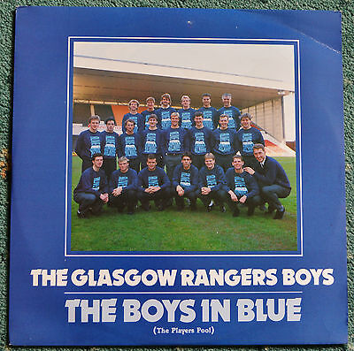 Rare-The Glasgow Rangers Boys 'The Boys in Blue' 12 inch single 1987.EX-NM.