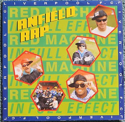 "Liverpool FC 'Anfield Rap' 1988 7"" vinyl record.(early pressing)"