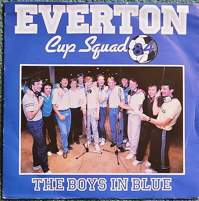 """Everton FC 1984 Cup Squad 'The Boys In Blue' 7"""" vinyl record."""