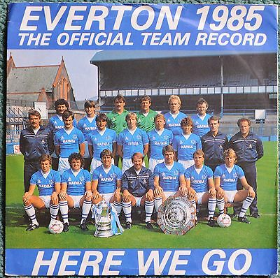 "Everton FC  'Here We Go' 1985 official 7"" UK vinyl record.Columbia DB9106"