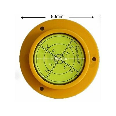 90 x 12mm Round Spirit Leveller Bubble Level Caravan, Motor Home Cranes dumpers