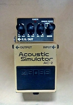 """BOOSTED OUTPUT +10 DB ! BOSS AC2 ACOUSTIC SIMULATOR """"boutique modded"""" MIT 2004"""