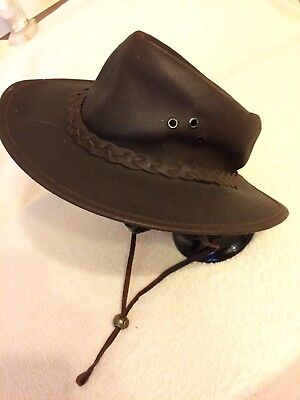 Selke Hat Hand Crafted in New Zealand Genuine NZ Bovine Leather Size Small